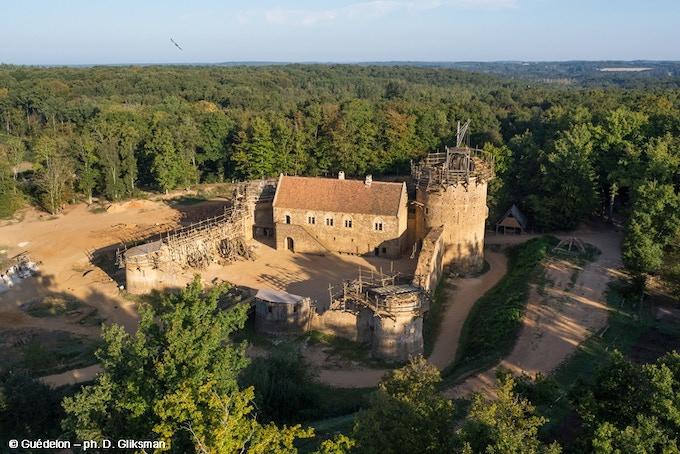 Le chantier du château de Guédelon