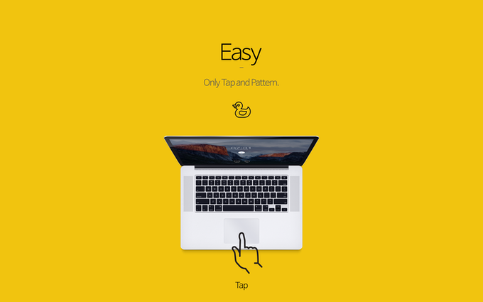 Tap - Unlock Your Mac With Multi-touch And Pattern by Pabix