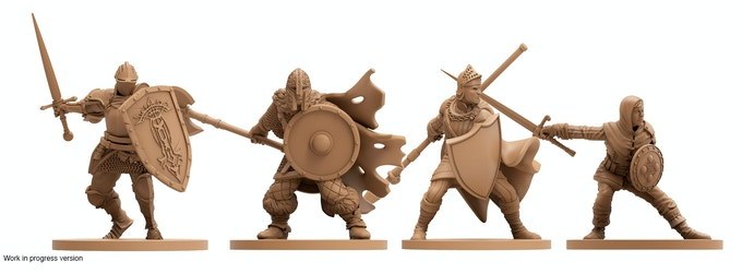 The Player Characters - Knight, Warrior, Herald & Assassin