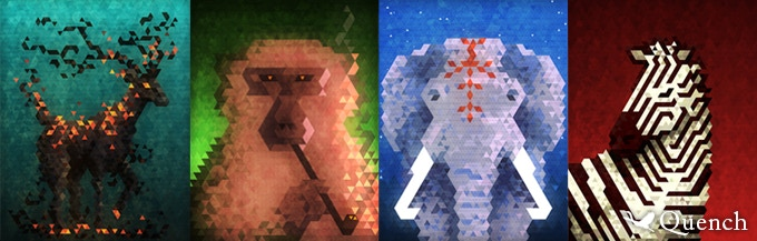 Your Hexels animal portrait would look something like these!