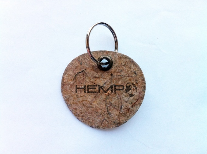 THE WORLD'S FIRST HEMP PLANE SPECIAL EDITION HEMPEARTH Key Ring by Hemp Eyewear Made In The Uk