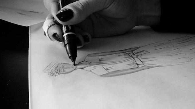 Alex working on early design development.