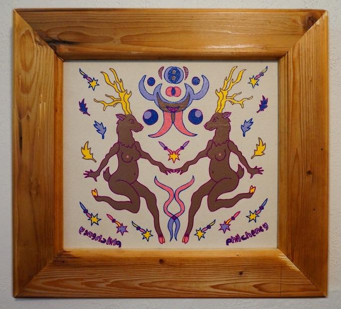 Wood Nymphs (reclaimed wood frames).