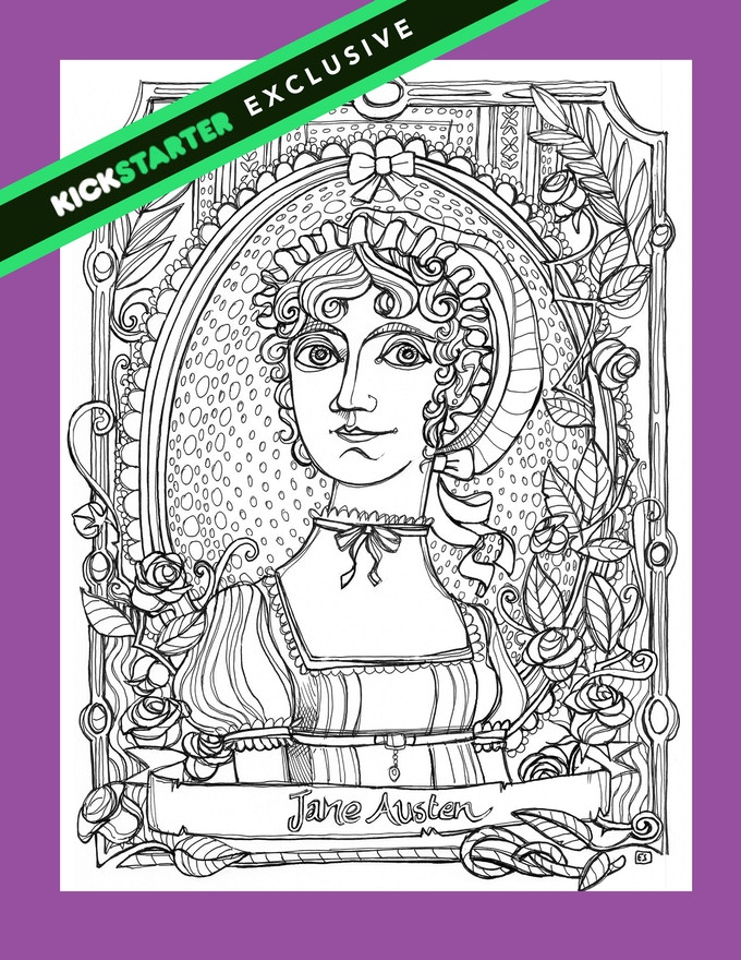 The Kickstarter Exclusive Coloring Book Illustration By Elisabetta Stoinich
