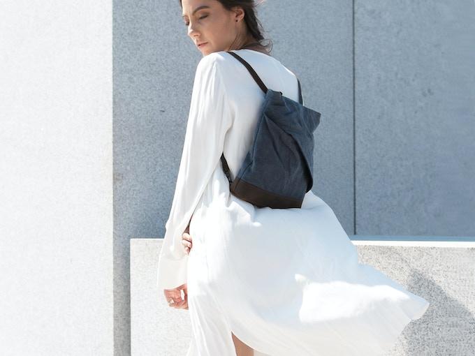rêve - mini linen messenger-backpack (sea-green)