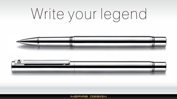 TTi-100 Titanium Roller Pen & Stylus for iPad / Surface by INSPIRS