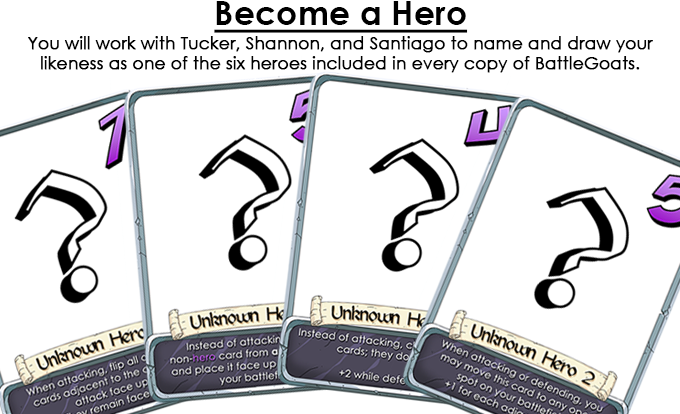 Become one of the BattleGoats Heroes!