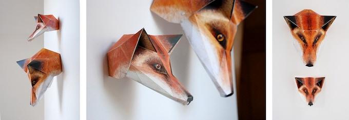 Printable fox next to standard fox