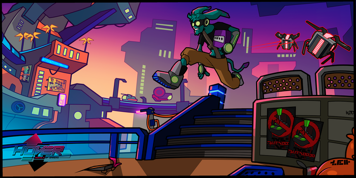 Open world futuristic freerun / parkour game inspired by great games like Jet Set Radio and Mirror's Edge