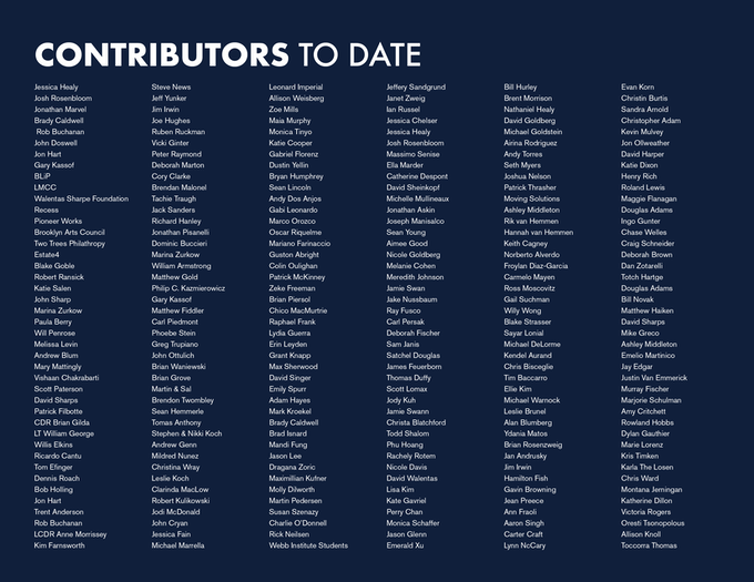 Contributors to date