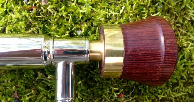Rosewood on standard shank trombone, we also offer large shank.