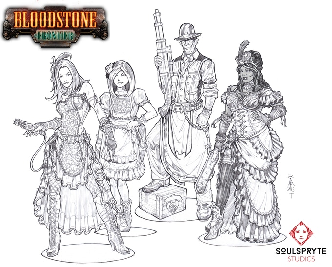 Songbird Saloon Concepts by Roberto Cirillo: Delphine, Amorette, Claude & Monique