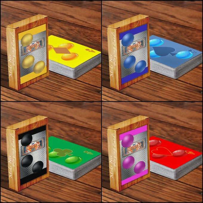 Moks Nix Sort playing cards boxes