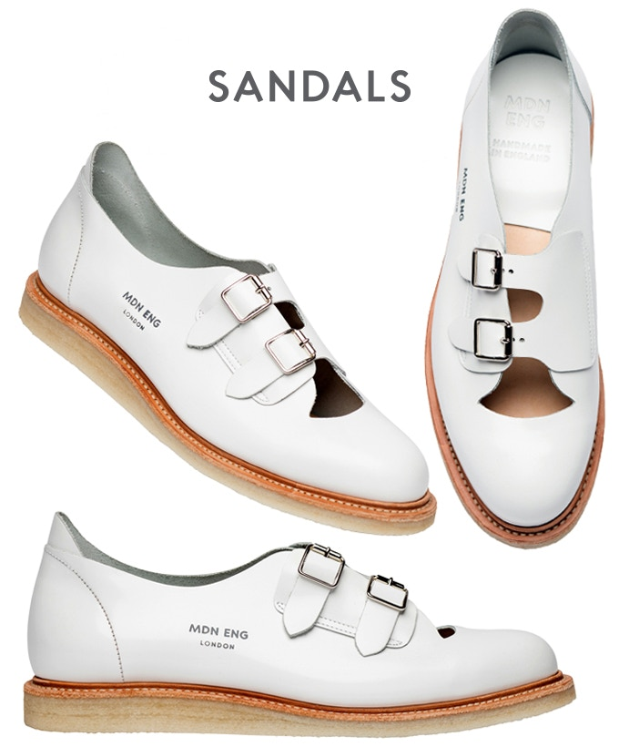 Our Sandals are available in the same 6 colours as the trainers (see below)