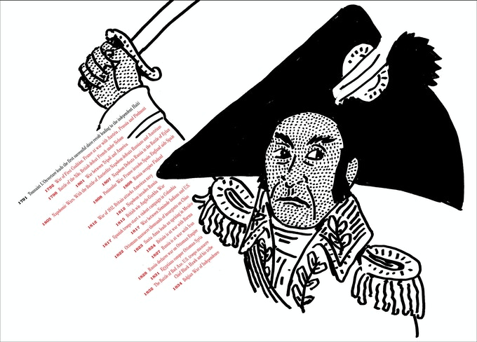 """From """"At War with War."""" Haitian Revolution, 1791."""