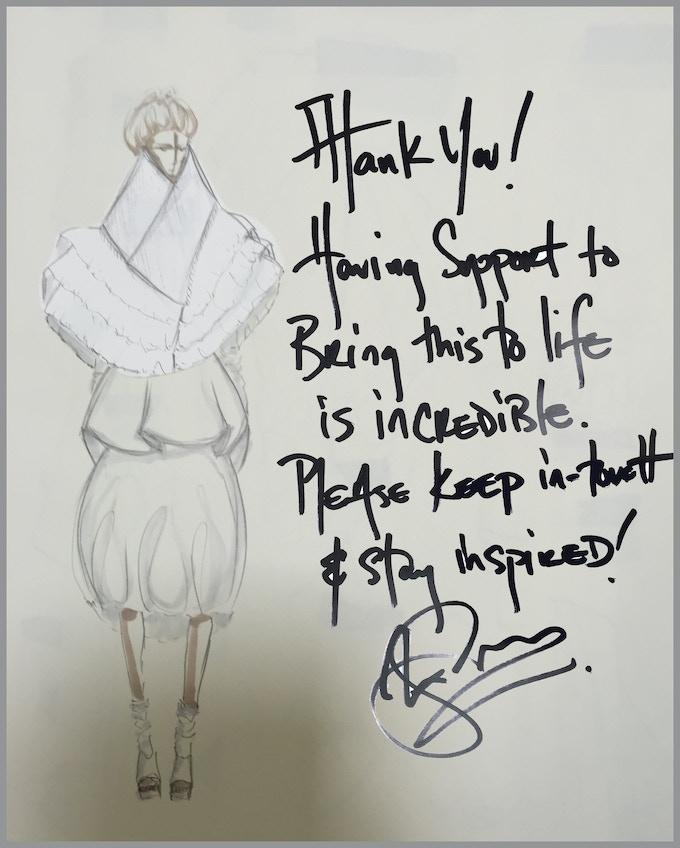 Handwritten card from Alex.....