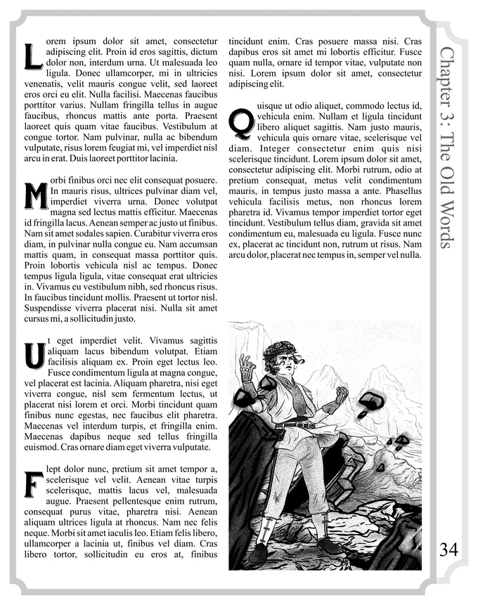 This is a sample page layout. The final product may look very different.