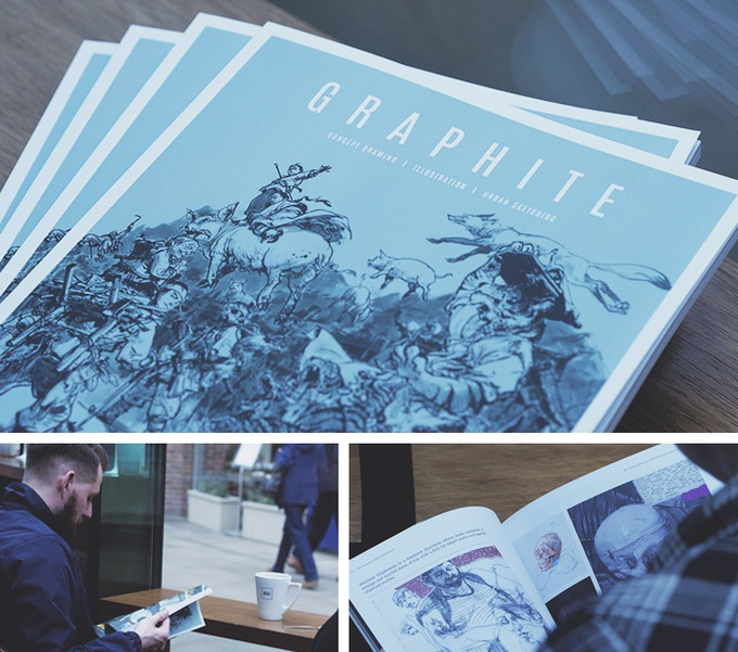 Mock-ups of the first issue of GRAPHITE. Content and design subject to change