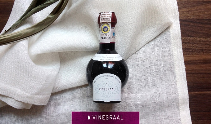 """Our """"vinegraal"""", more than 25 years aged."""