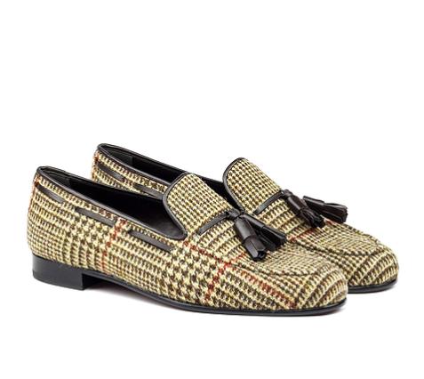 Handmade Tweed/Tassel Loafers
