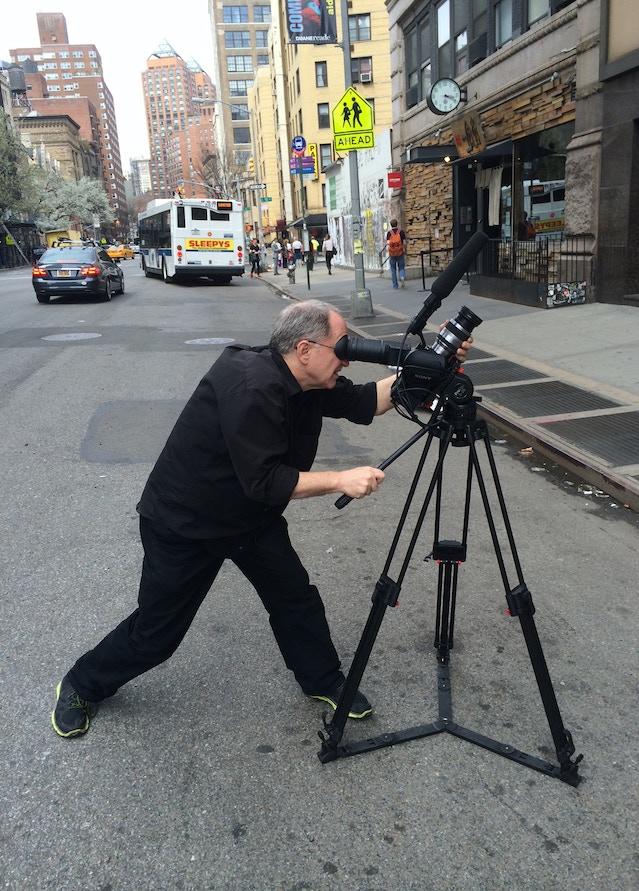 David shooting NYC street scenes