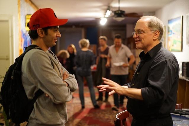 David and cast member Rami Shamir, author of Last Train to Pokipsie