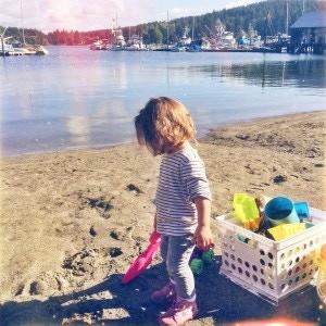 Gig Harbor Beach (with communal sand toys!)