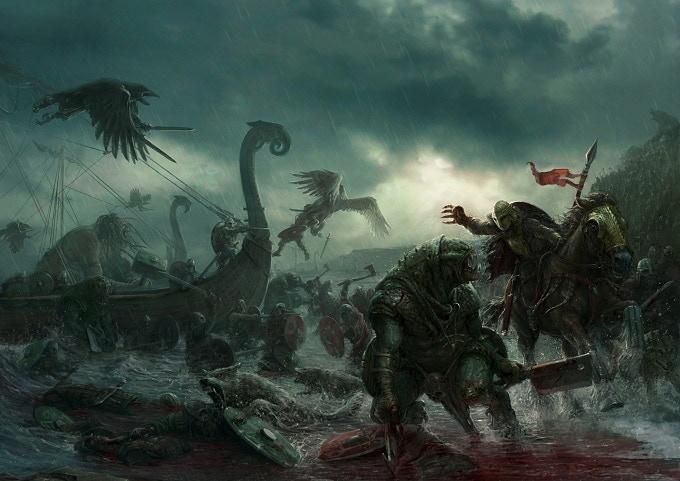 The Darklands Rulebook cover art, by Stefan Kopinski