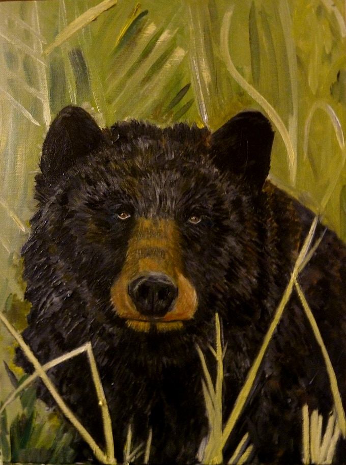 Black Bear Tarot Card