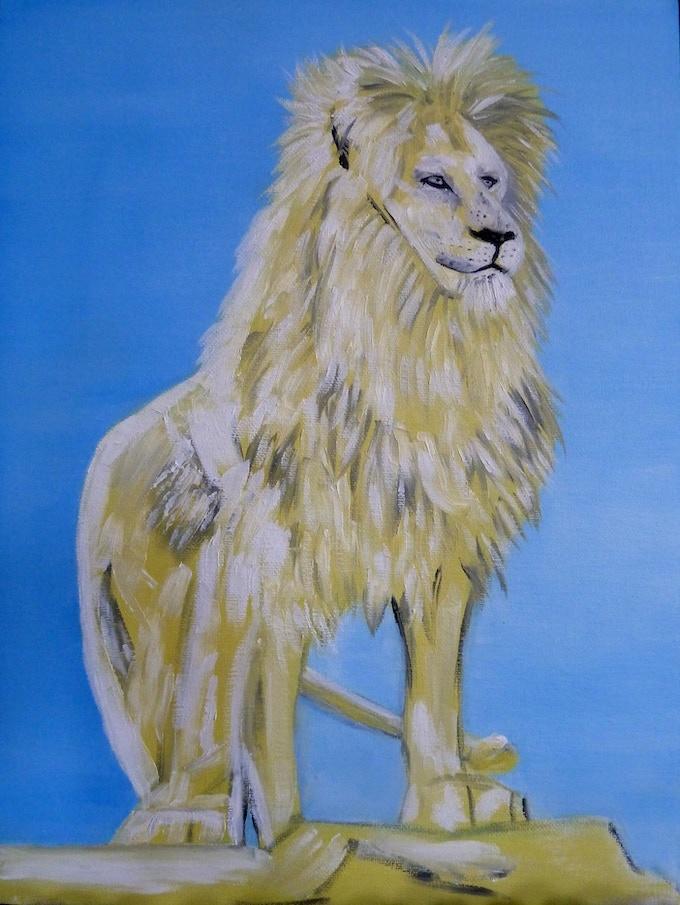 Lion Tarot Card