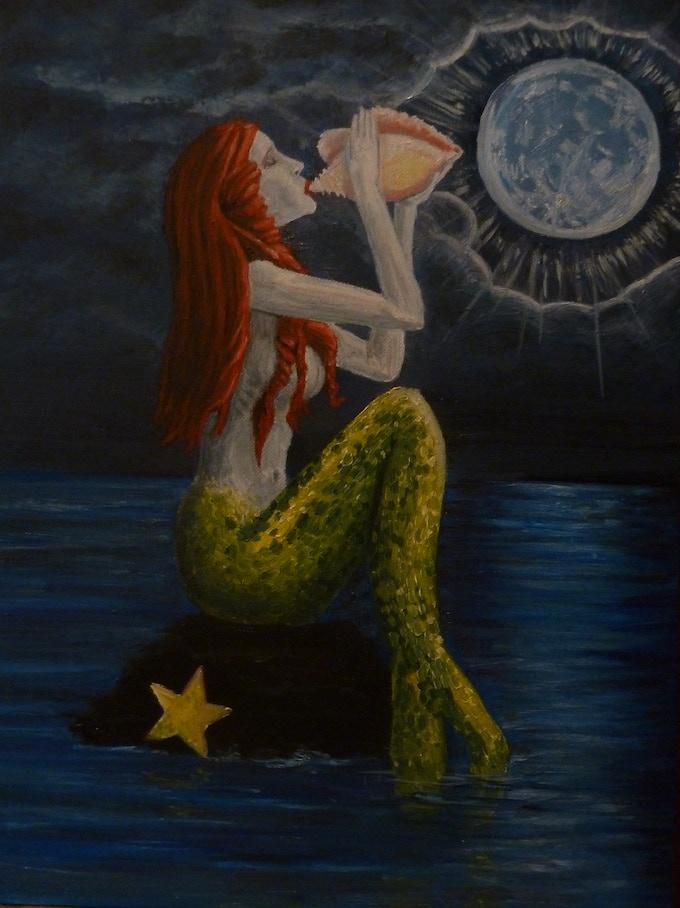Mermaid Tarot Card
