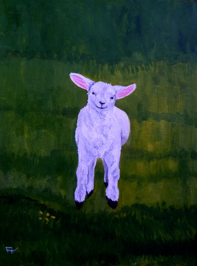 Leaping Lamb Tarot Card