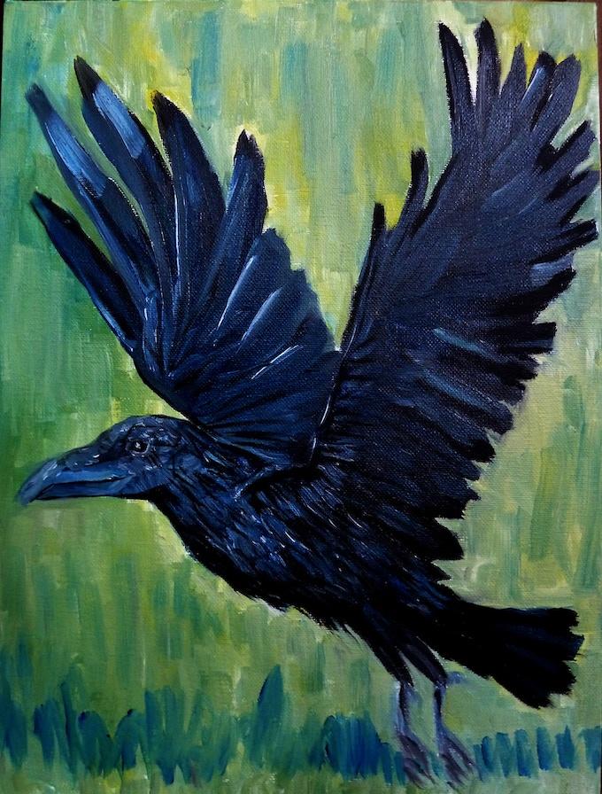 Raven Tarot Card