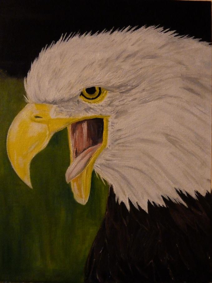 Screaming Eagle Tarot Card