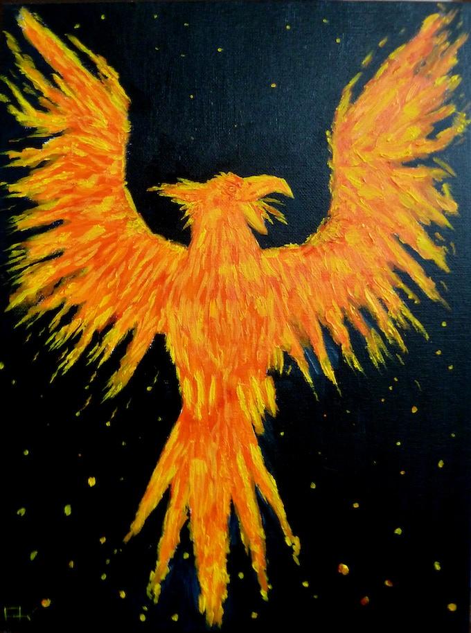 Phoenix Tarot Card