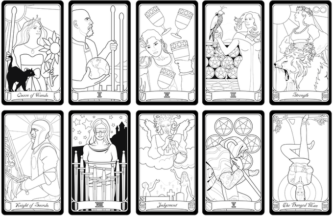 It's just a graphic of Effortless Printable Tarot Cards to Color