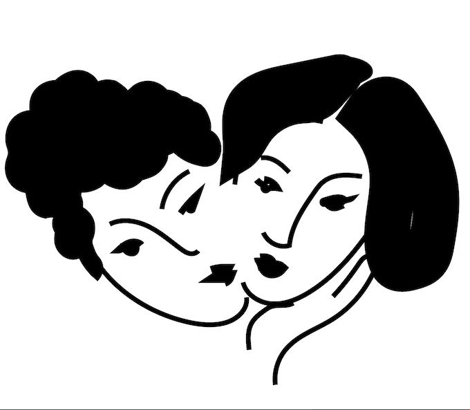Lady Kiss Pin Illustration