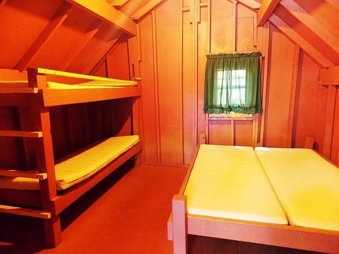 Camp Scare-a-way cabin interior