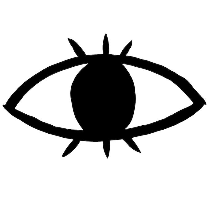 Eyes Pin Illustration