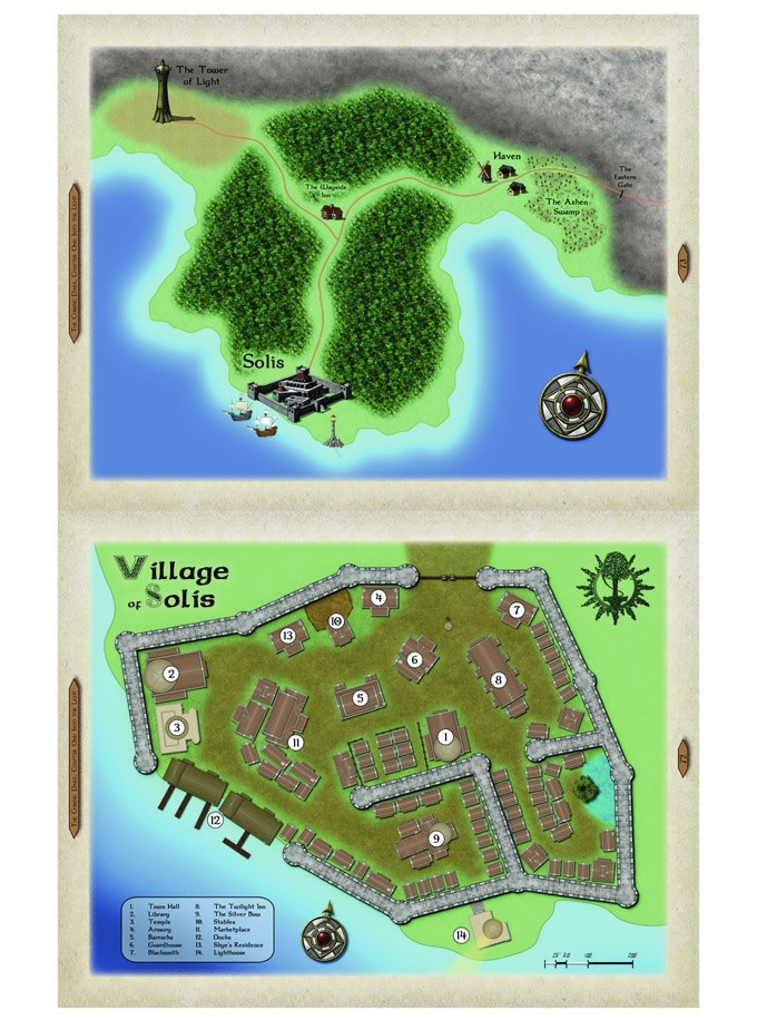 Sample tactical map from TCD1 : Village of Solis and surrounding area