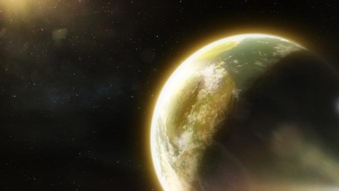 As seen from space, the Seraketh homeworld: Eribus