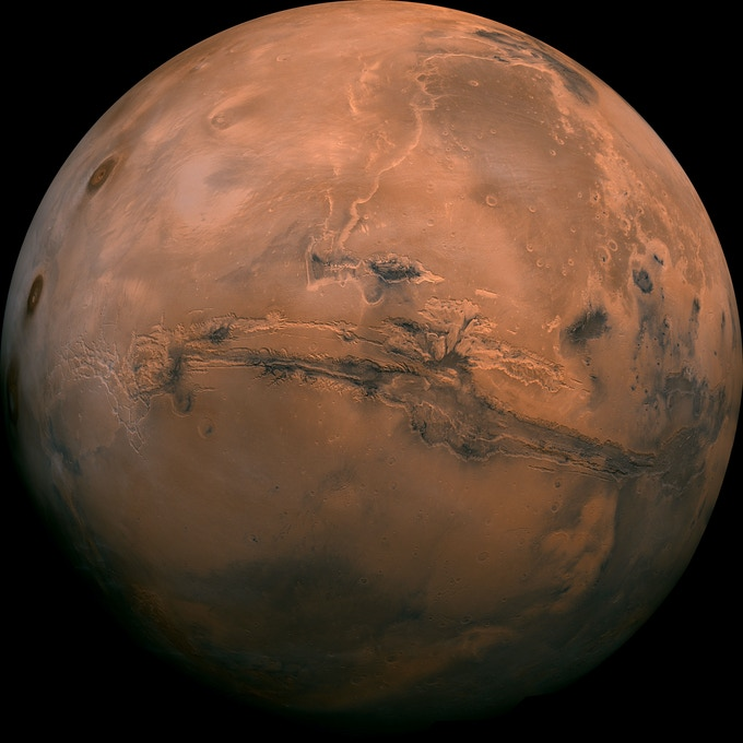An image of Mars from the NASA library.