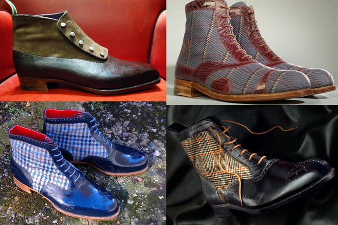 A selection of Carreducker bespoke boots