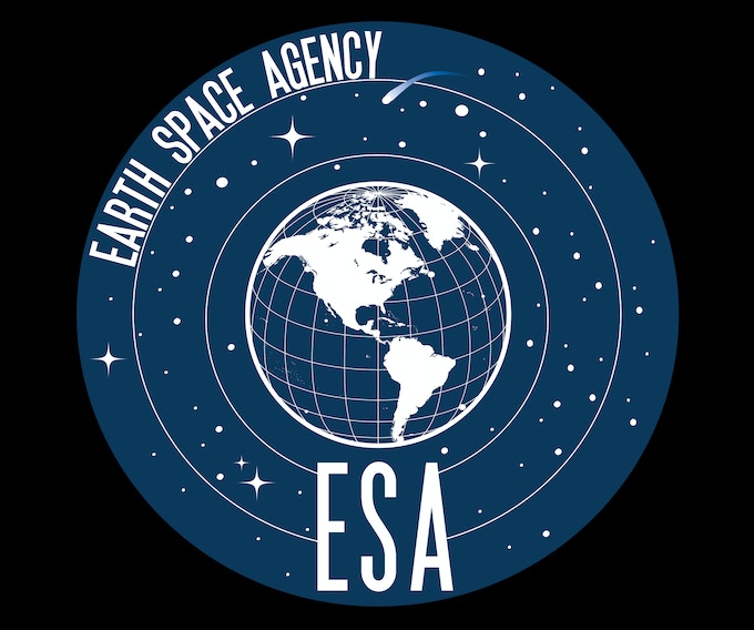 The logo for the Earth Space Agency. Available as a patch as well at the $30 donation level.