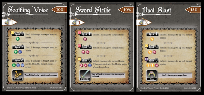 Examples of some Soul Talent cards