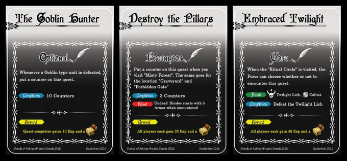 Examples of Quest cards