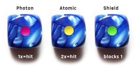 blue marble battle dice!
