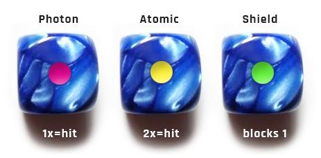 blue marble battle dice!
