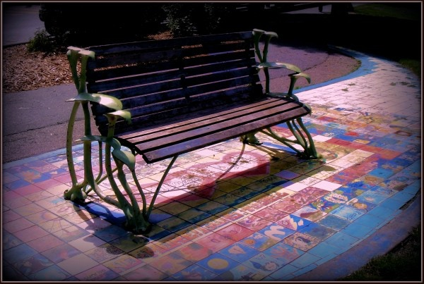The Bench by Rob M. Goldstein (one of the many artists whose work is  your Pledge Reward