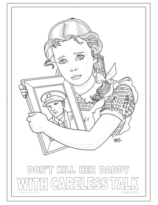 We Can Color It! A Propaganda Poster Coloring Book by